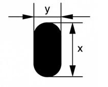 Flat glass rod
