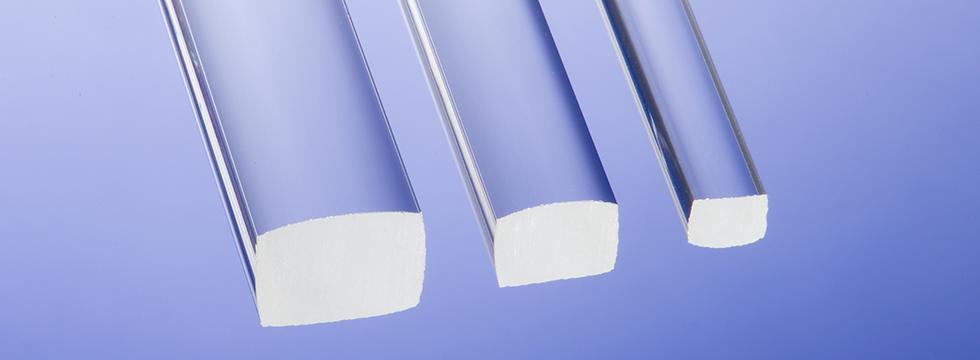 Borosilicate square glass rod