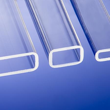 Clear Fused Quartz - Rectangular tubing